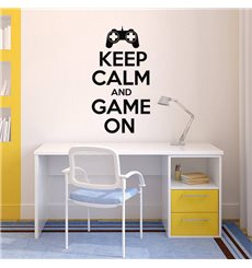 Sticker Keep Calm and game on