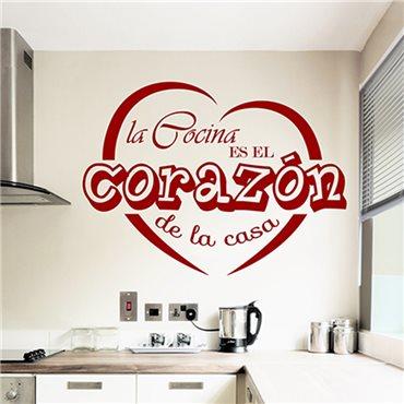 Sticker La cocina es la corazon de la casa - stickers cuisine & stickers muraux - fanastick.com
