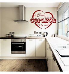 Sticker La cocina es la corazon de la casa