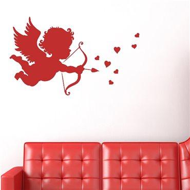 Sticker Cupidon avec une flèche et cœur - stickers amour & stickers muraux - fanastick.com