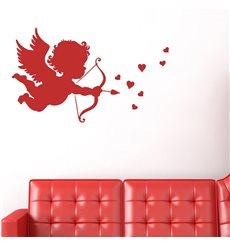 Sticker Cupidon avec une flèche et cœur