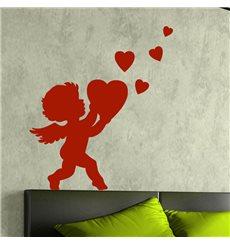Sticker Cupidon portant un cœur