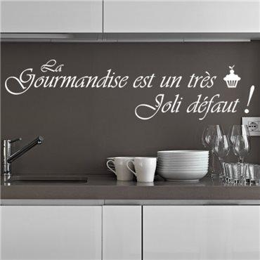 Sticker La gourmandise est un très joli défaut - stickers citations & stickers muraux - fanastick.com