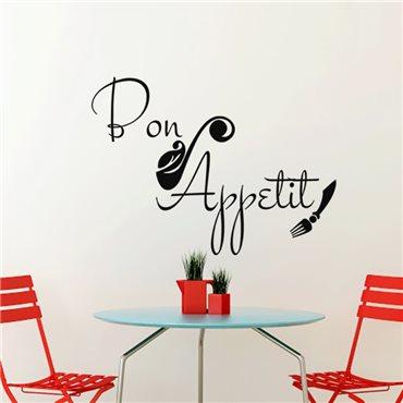 Sticker Cuisine Bon appetit artistique - stickers cuisine & stickers muraux - fanastick.com
