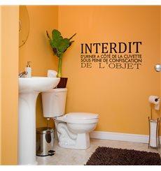 Sticker Interdit d'uriner à côté de la plaque