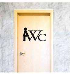 Sticker Panneau WC