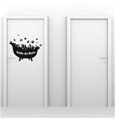 Sticker Salle de bain - baignoire avec bulles