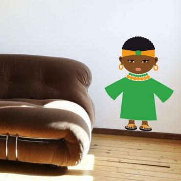 Sticker Africaine - stickers enfant du monde & stickers enfant - fanastick.com