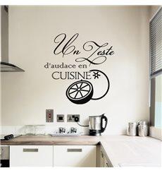 Sticker Un zeste d'audace en cuisine