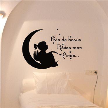 Sticker Fais de beaux rêves - stickers chambre enfant & stickers enfant - fanastick.com