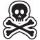 Sticker Tête de mort design - stickers tête de mort & stickers muraux - fanastick.com