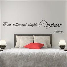 Sticker C'est tellement simple - J. Prévert