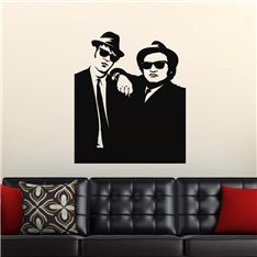Sticker Silhouette Blues brothers