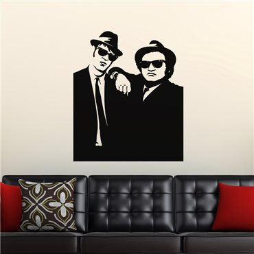 Sticker Silhouette Blues brothers - stickers personnages & stickers muraux - fanastick.com