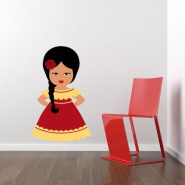Sticker Espagnole - stickers enfant du monde & stickers enfant - fanastick.com