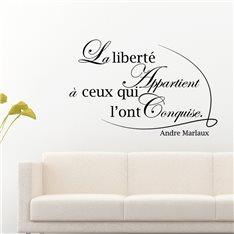 Sticker La liberté - André Malraux