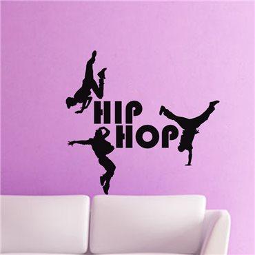 Sticker Silhouette danseurs Hip hop - stickers chambre enfant & stickers enfant - fanastick.com