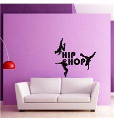 Sticker Silhouette danseurs Hip hop