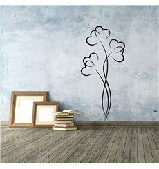 Sticker Plante fleurissant des cœurs