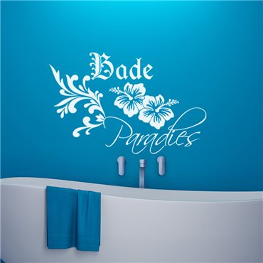 Sticker Bade paradies - stickers salle de bain & stickers muraux - fanastick.com