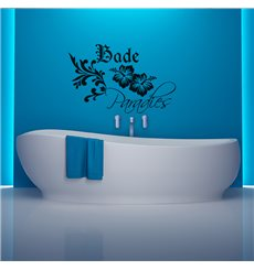 Sticker Bade paradies