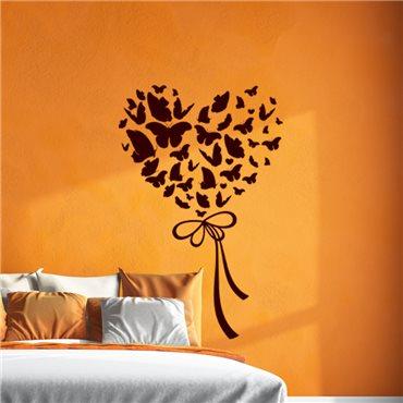 Sticker Papillons formant un cœur - stickers amour & stickers muraux - fanastick.com