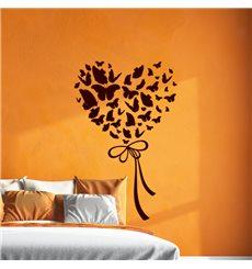 Sticker Papillons formant un cœur