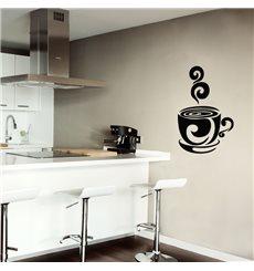 Sticker Design tasse de café chaud