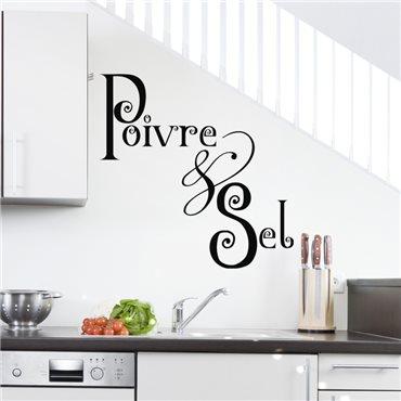 Sticker Poivre & sel - stickers cuisine & stickers muraux - fanastick.com