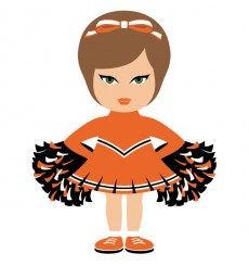 Sticker Pom pom girl