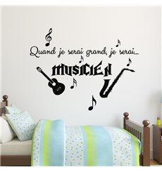 Sticker Quand je serai grand, je serai musicien