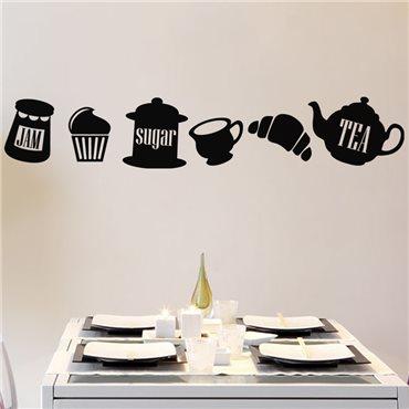 Sticker Tea, jam, sugar - stickers cuisine & stickers muraux - fanastick.com