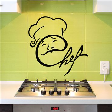 Sticker Design Chef - stickers cuisine & stickers muraux - fanastick.com