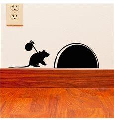 Sticker Rat en voyage