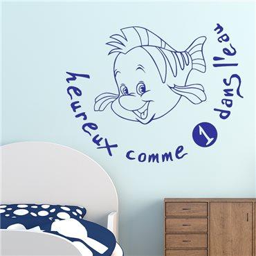 Sticker Heureux comme un poisson dans l'eau - stickers chambre enfant & stickers enfant - fanastick.com