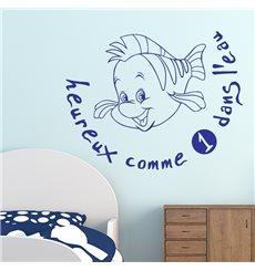 Sticker Heureux comme un poisson dans l'eau