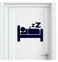 Sticker porte Signe dormir
