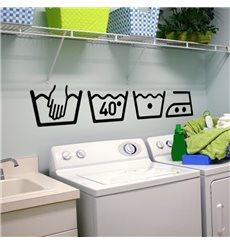 Sticker Instruction de lavage