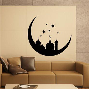 Sticker Oriental Monument sur la lune et les étoiles - stickers monde & stickers muraux - fanastick.com