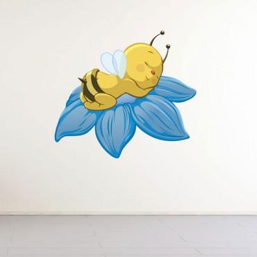 Sticker Abeille sur fleur - stickers enfants & stickers enfant - fanastick.com