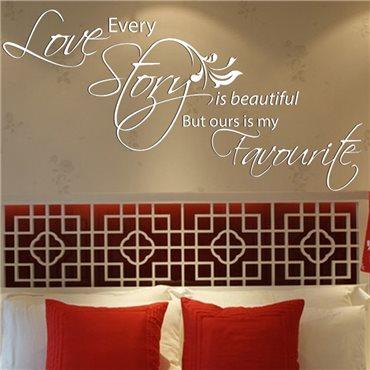 Sticker Every love story…1 - stickers citations & stickers muraux - fanastick.com