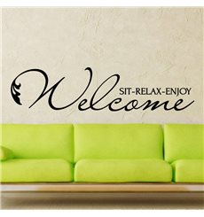 Sticker Welcome sit relax enjoy