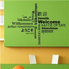 Sticker Welcome multilingue
