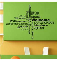 Sticker Welcome multilingue