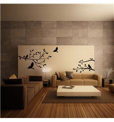 Sticker Branche d'arbre et oiseaux