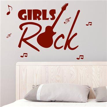 Sticker Girls Rock - stickers musique & stickers muraux - fanastick.com