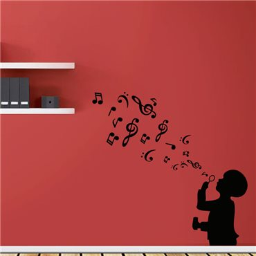 Sticker Un souffle de musique - stickers personnages & stickers muraux - fanastick.com