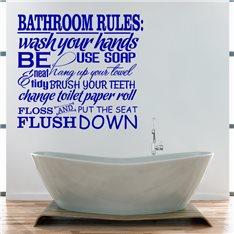 Sticker Bathroom Rules 2