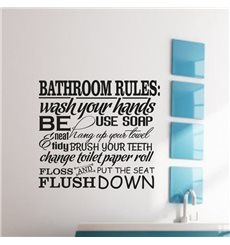Sticker Bathroom Rules 2