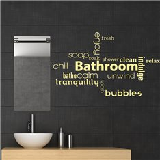 Sticker Bathroom, enjoy, calm…